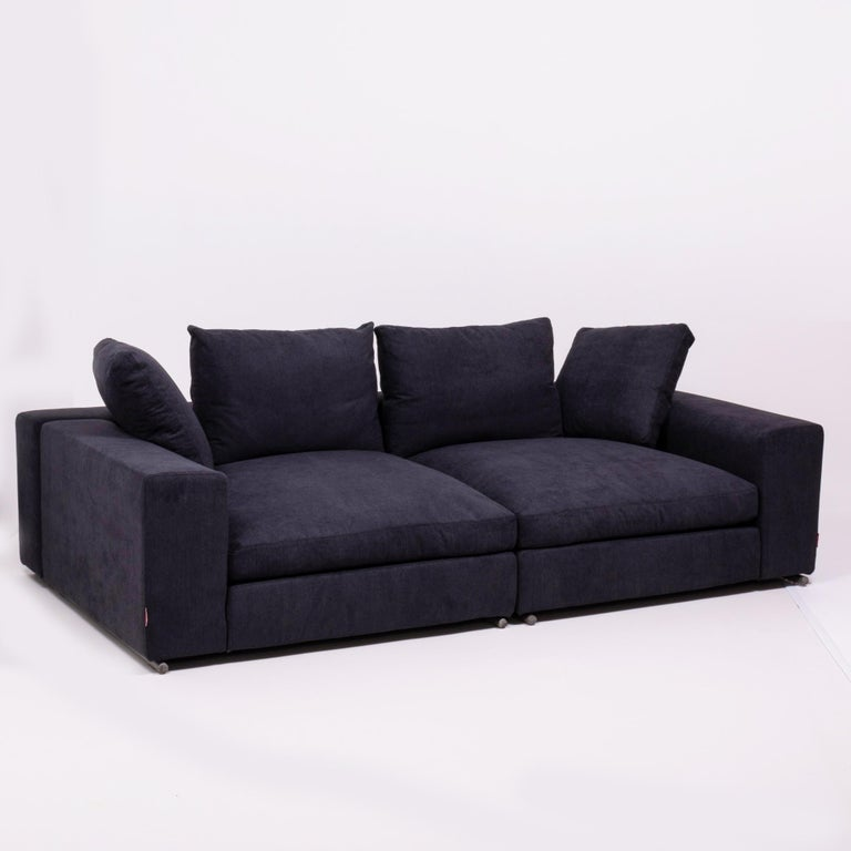 Brilliant Vintage Slate Grey Fabric Sectional Sofa By Flexform Pdpeps Interior Chair Design Pdpepsorg