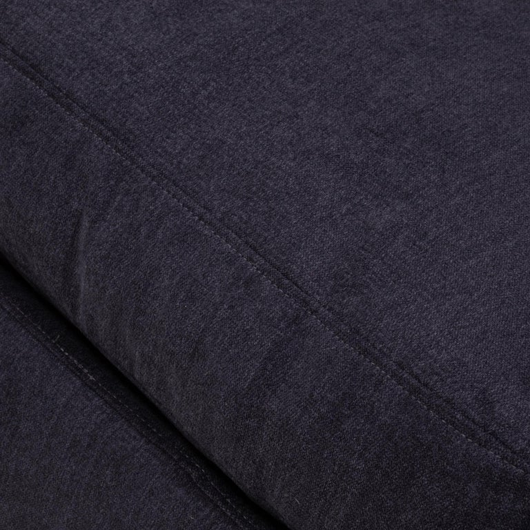 Vintage Slate Grey Fabric Sectional Sofa by Flexform For Sale 3