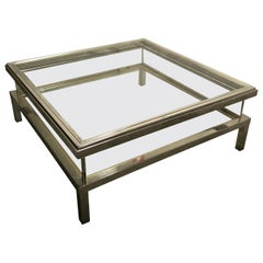 Vintage Sliding Top Coffee Table by Maison Jansen, 1970s