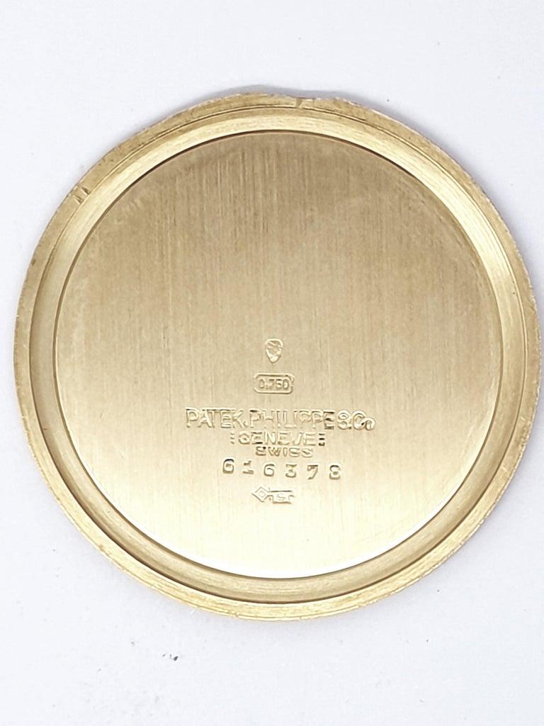 Vintage Slimline Patek Philippe Pocket Watch 18 Karat Gold In Good Condition For Sale In Dublin, IE