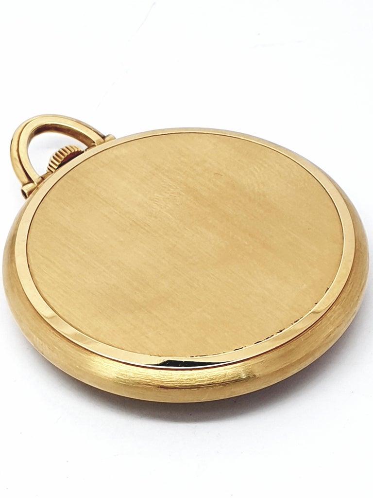 Women's or Men's Vintage Slimline Patek Philippe Pocket Watch 18 Karat Gold For Sale