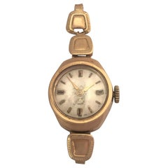Vintage Small 1960s 9 Karat Gold Mechanical Ladies Watch