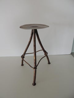 Vintage Small Copper Tubing Drinks Table