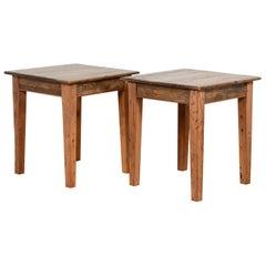 Vintage Small Pine Rectangular Kitchen Tables, 20th Century