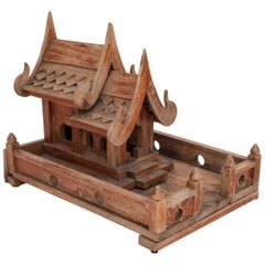 Vintage Small Spirit House from Northern Thailand, Teak, Mid-Late 20th Century