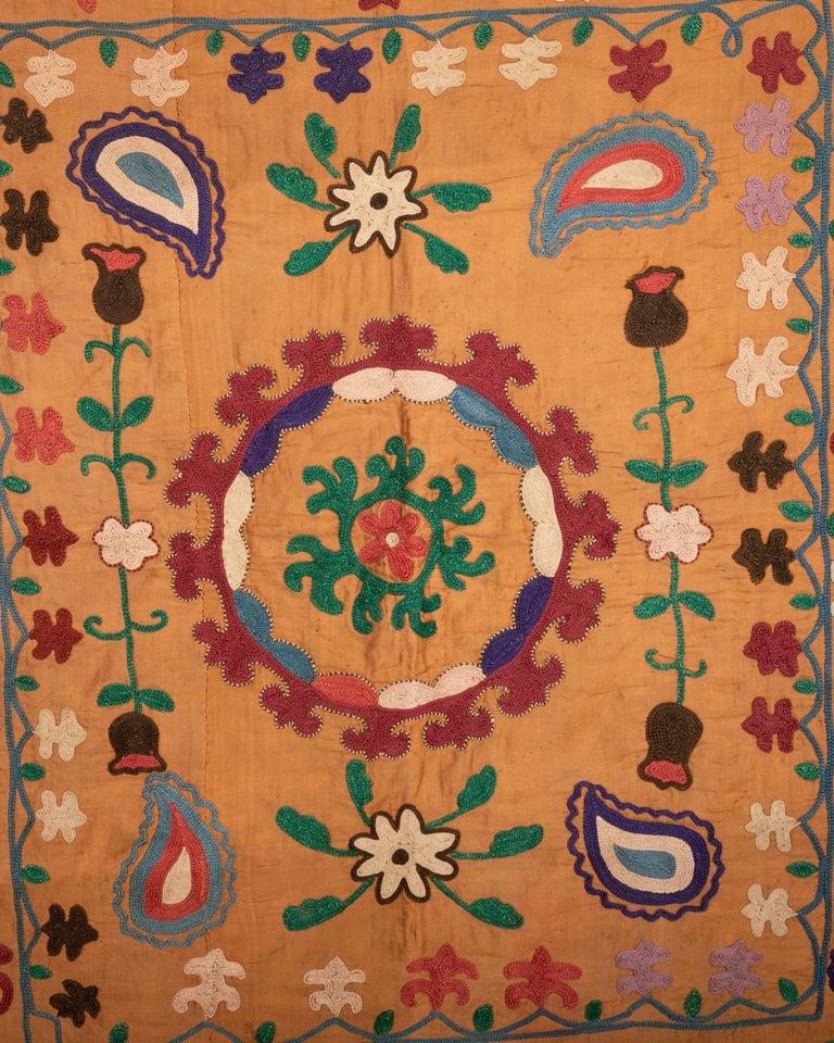 Embroidered Vintage Small Suzani, Samarkand, Uzbekistan, 1970s For Sale
