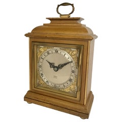 Vintage Small Wooden Elliot London Mantel Clock