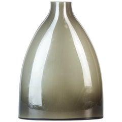 Vintage Smoked Glass Vase, Italy, 1970s