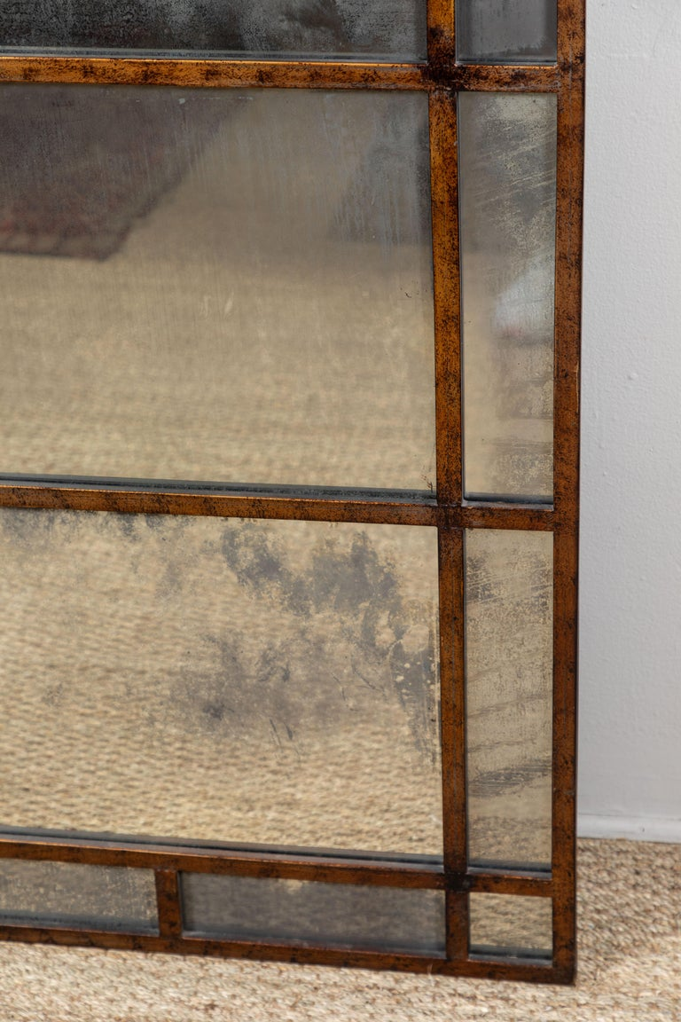 American Vintage Smokey Mirrored Panel For Sale