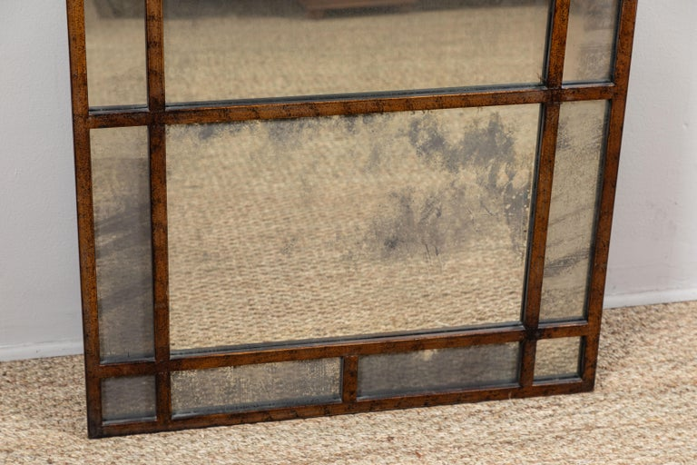 Burnished Vintage Smokey Mirrored Panel For Sale
