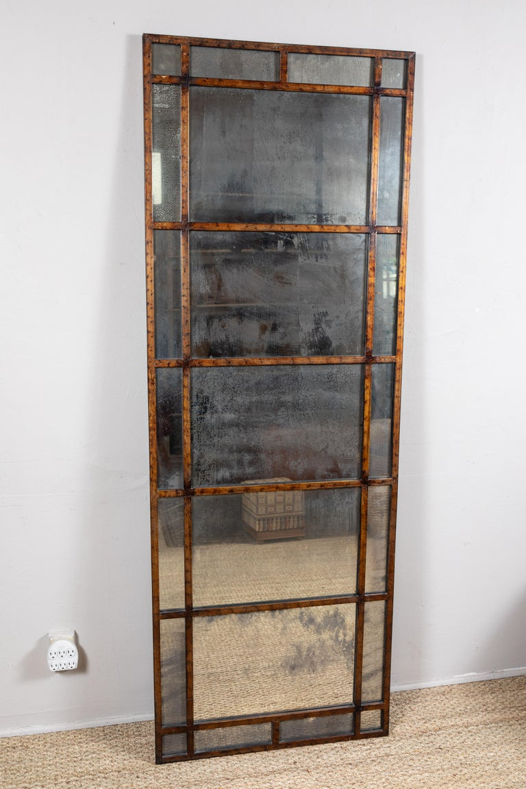 Vintage Smokey Mirrored Panel In Good Condition For Sale In Los Angeles, CA