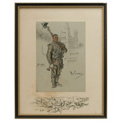 Vintage Snaffles First World War Print, Wipers, 1915
