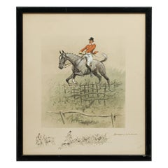Vintage, Snaffles Fox Hunting Print, Swagger, Signed by the Artist, Charles John