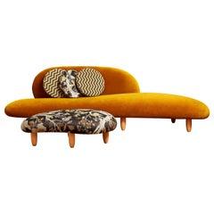 Vintage Sofa and Stool