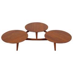 Vintage Solid Walnut Coffee Table Attributed to Greta Grossman