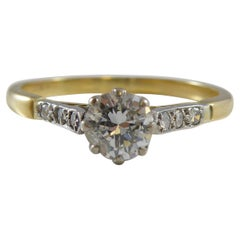 Vintage Solitaire Diamond Engagement Ring, Circa 1950s/1960s