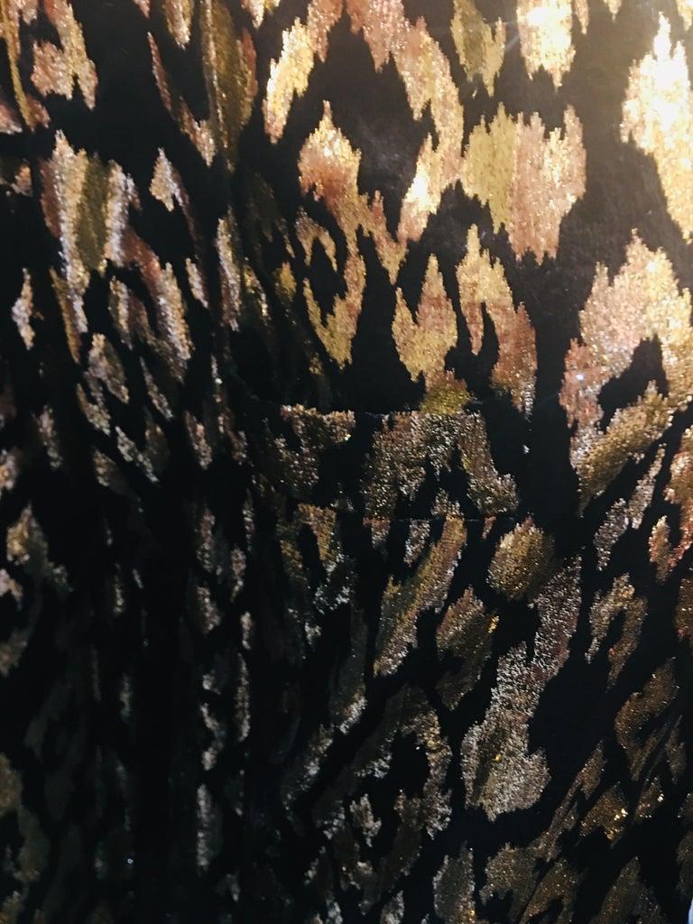 1980's Sonia Rykiel France Evening Wear Lightweight Silk Velvet Lame Duster  For Sale 2