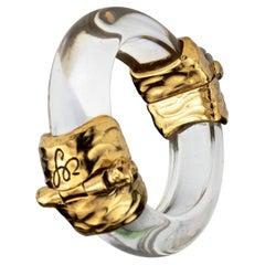 Vintage SONIA RYKIEL Lucite Modernist Cuff Bracelet