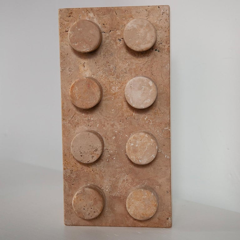 Sound System in Travertine Marble In New Condition For Sale In Milan, IT