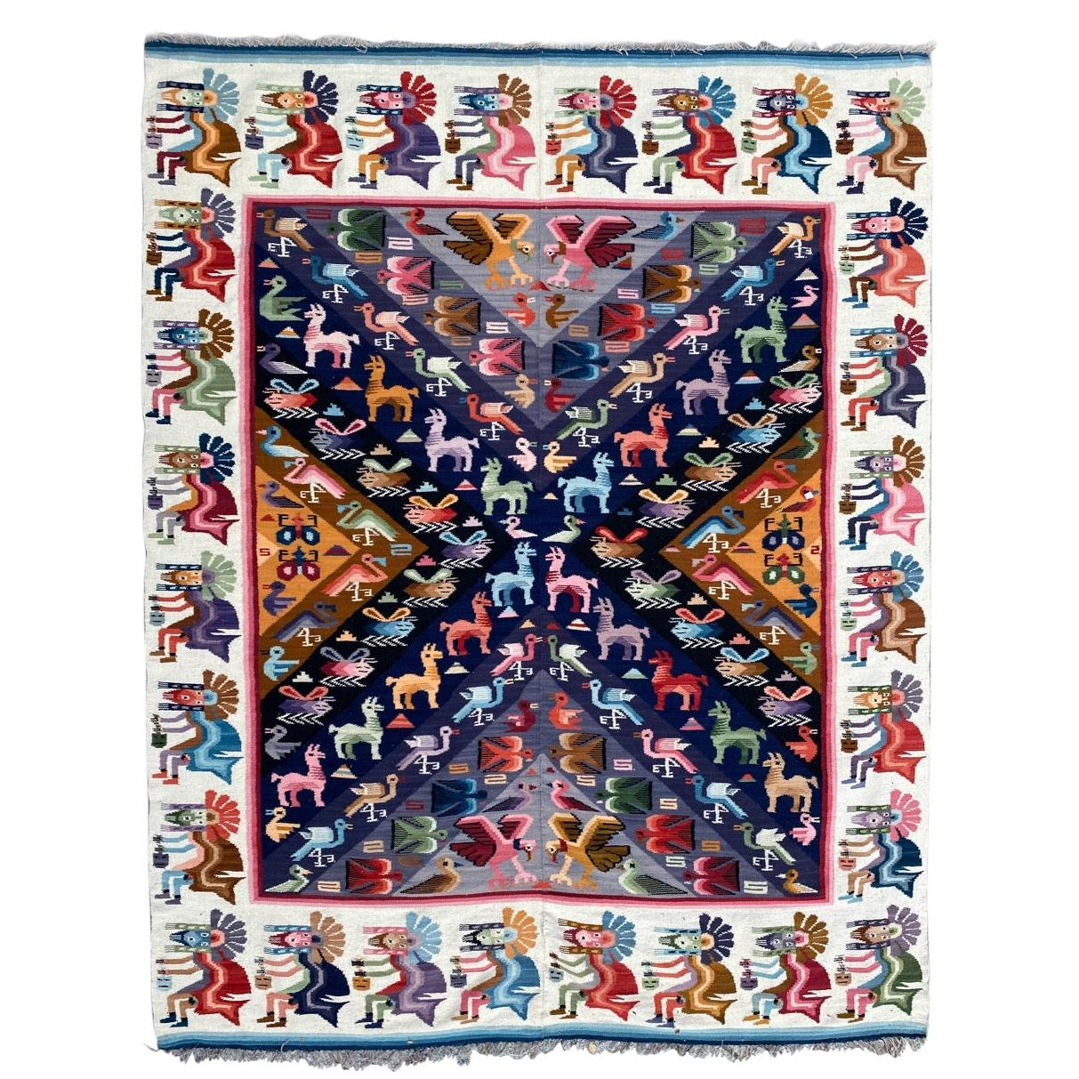 Vintage South American Tapestry Kilim