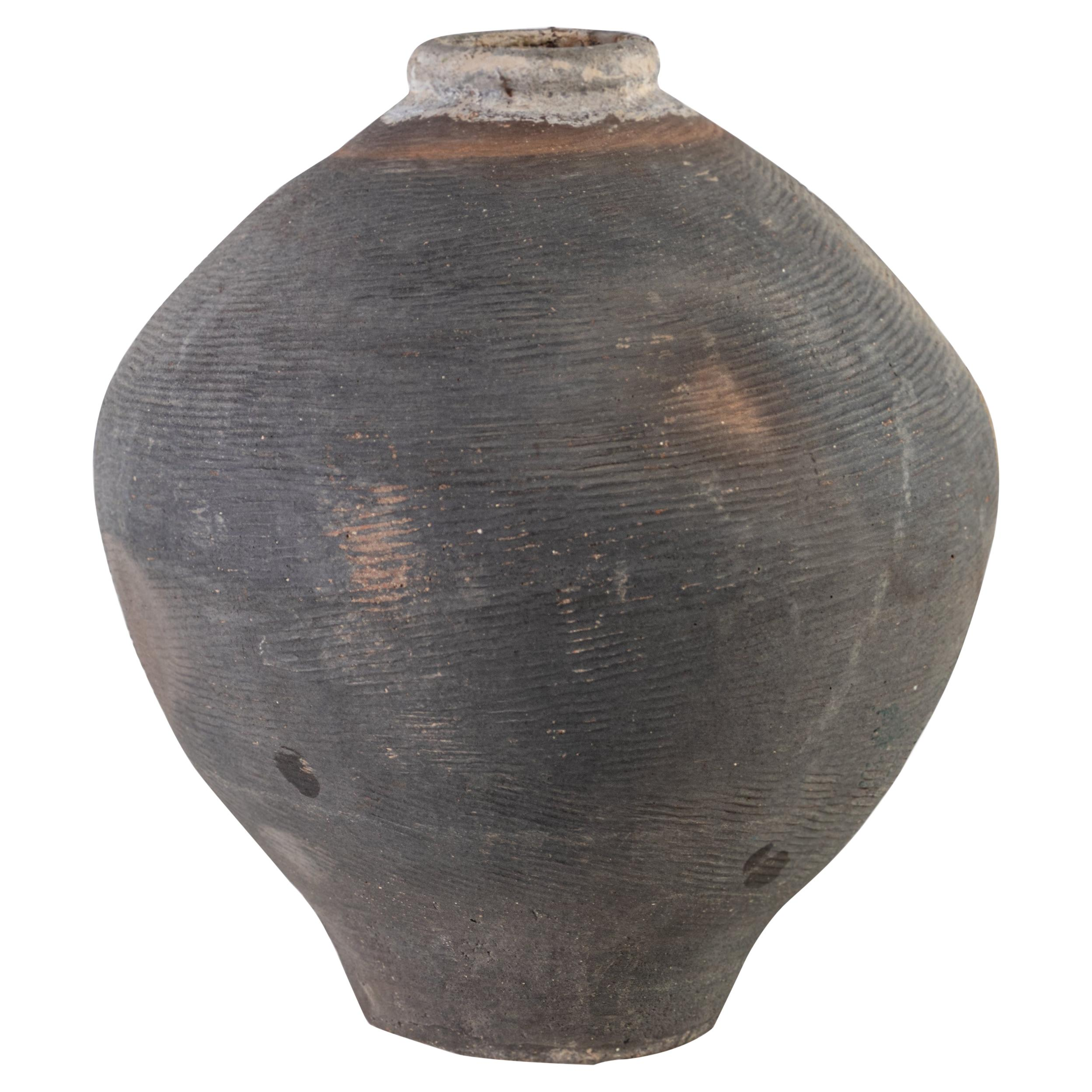 Vintage Southern Asia Terracotta Storage Jar