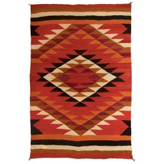 Vintage Southwest Navajo Transitional Wearing Blanket, circa 1880