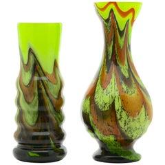 Vintage 'Space Age' Set Opaline Florence Vase, 1955