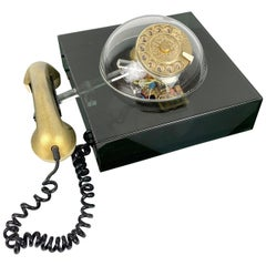 Vintage Space Age Teledome Desk Rotary Telephone in Lucite, 1970s