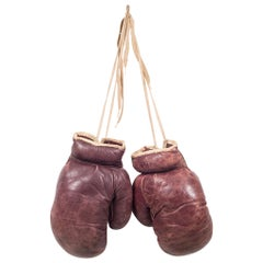 Vintage Spalding Leather Boxing Gloves, circa 1950-1960