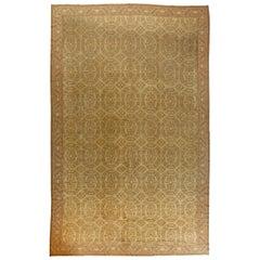 Vintage Spanish Beige Handmade Wool Rug