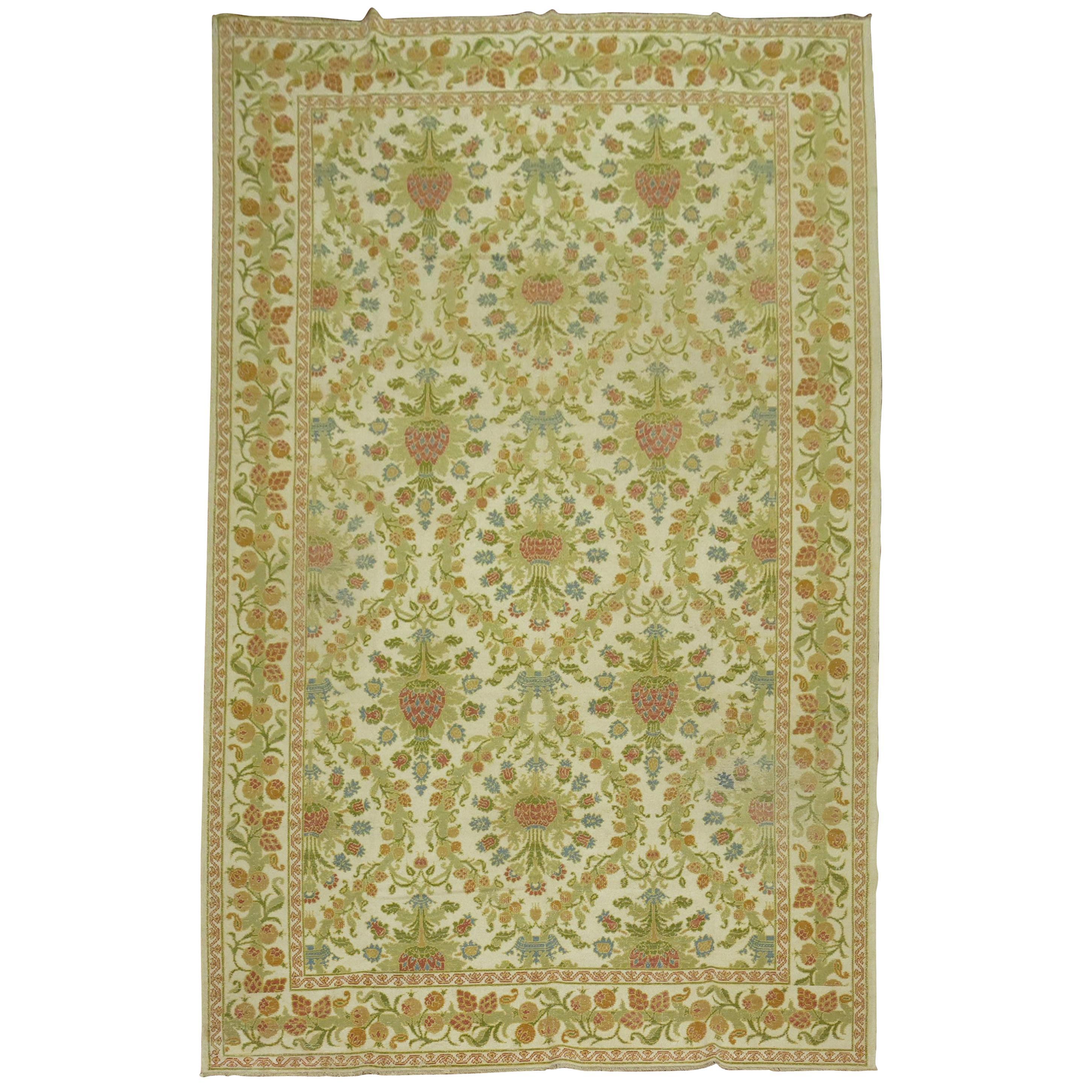 Vintage Spanish Cuenca Carpet