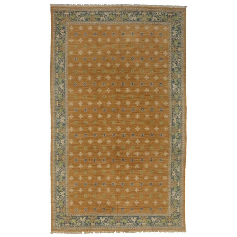 Vintage Spanish Cuenca Carpet with Arts & Crafts Mediterranean Style