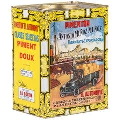 Vintage Spanish Pimiento Tin Can
