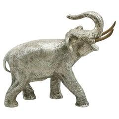 Vintage Spanish Silver Elephant Table Ornament