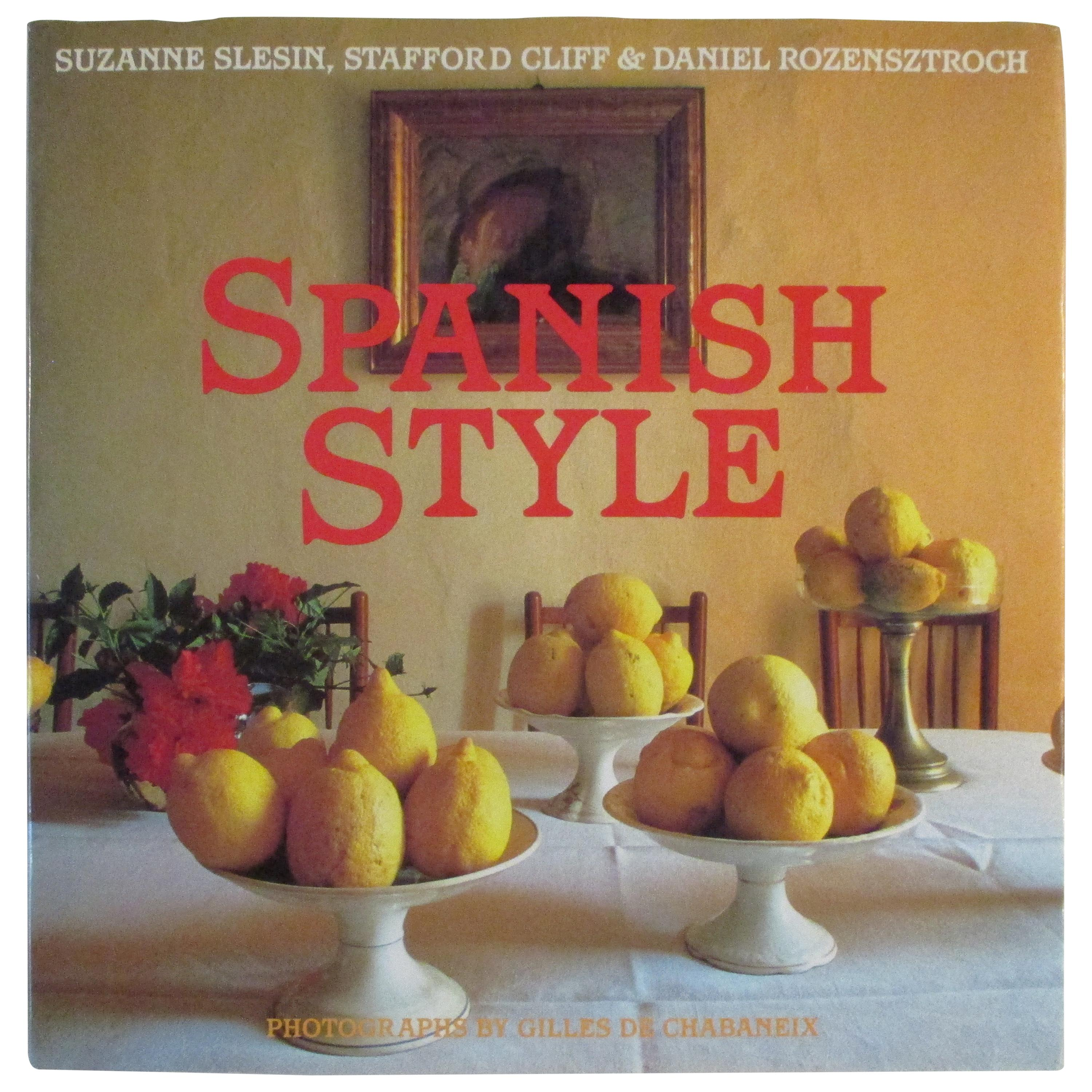 Vintage Spanish Style Coffee Table Book