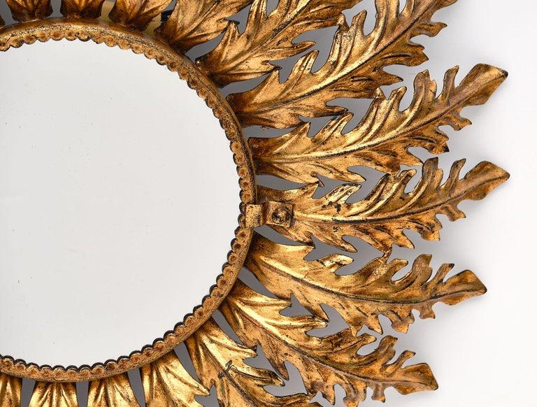 Vintage Spanish Sunburst Mirror with Backlight For Sale 3