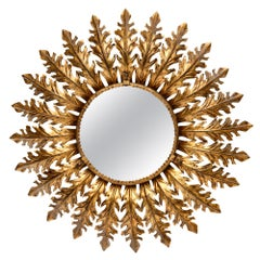 Vintage Spanish Sunburst Mirror with Backlight