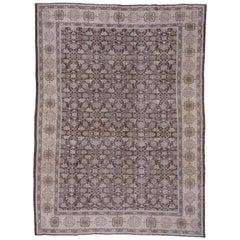 Neutral Tribal Persian Mahal Carpet