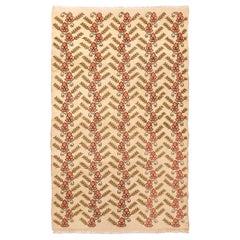Vintage Sparta Traditional Beige and Pink Wool Rug
