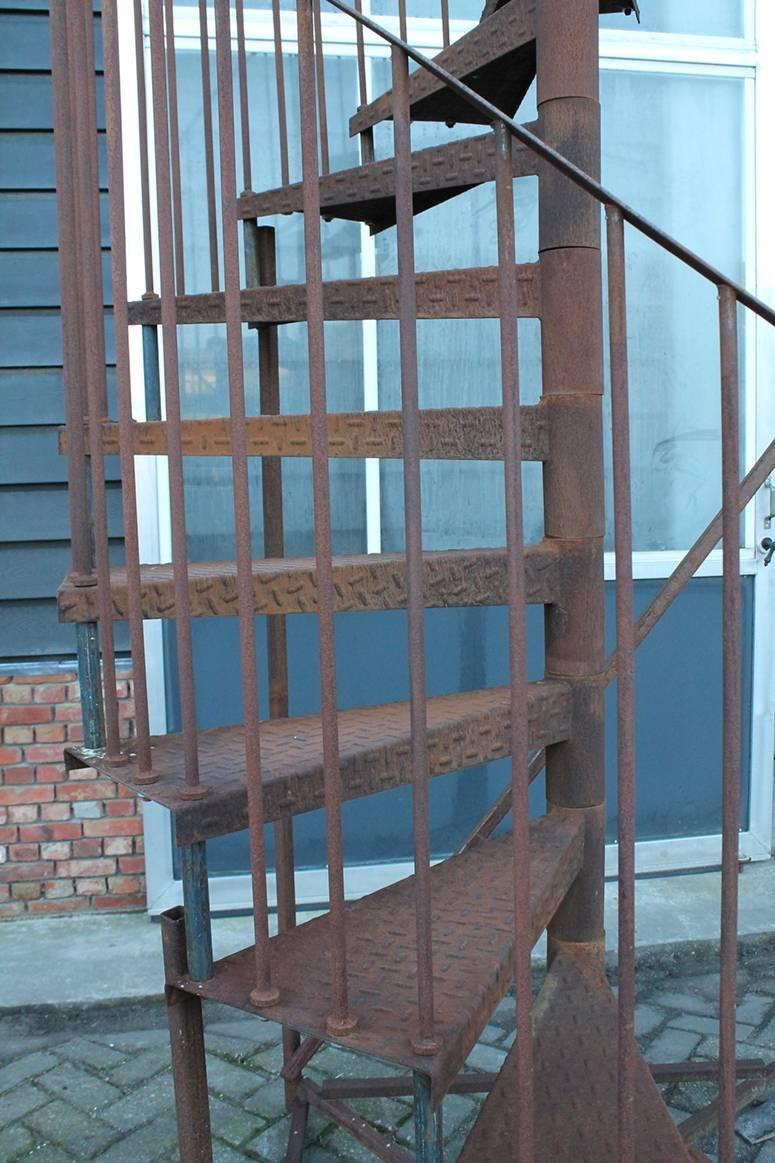 Vintage Spiral Staircase In A Good Condition.