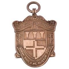Vintage Sports Silver Medal Pendant