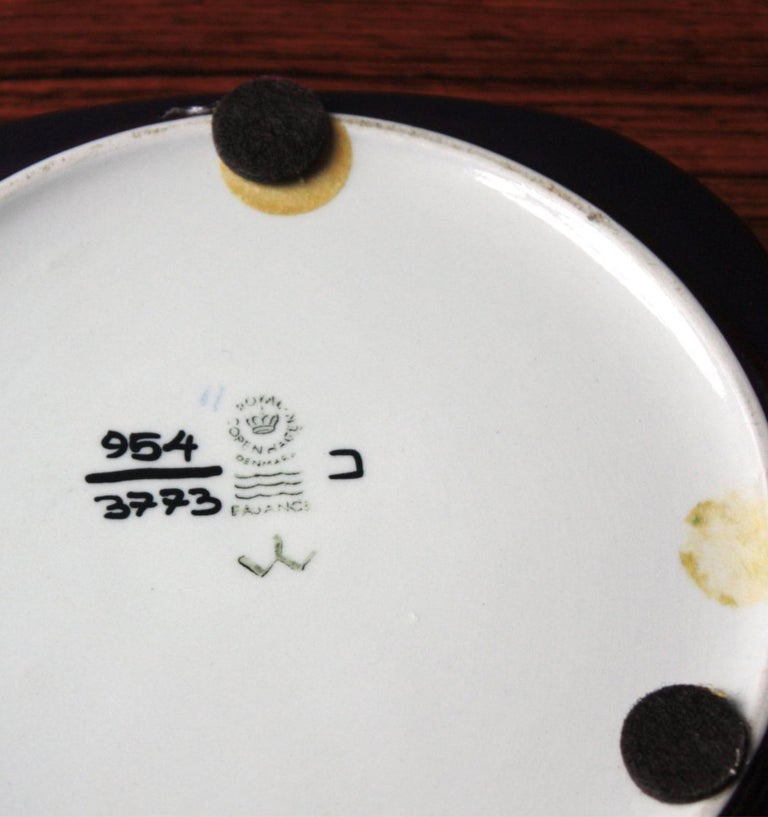 20th Century Mid-Century Modern square Faience plate by Ivan Weiss for Royal Copenhagen For Sale