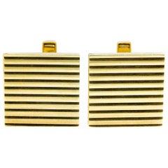 Vintage Square Gold Cufflinks
