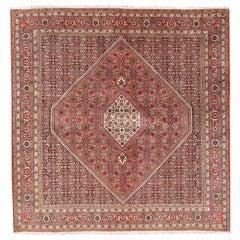 Vintage Square Persian Bidjar Handwoven Rug  6'10 x 6'10