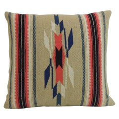 Vintage Square Southwestern Style Woven Wool Decorative Pillow