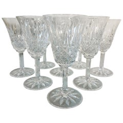Vintage St. Louis Crystal Tarn Glass Wine Stems, Set of 8