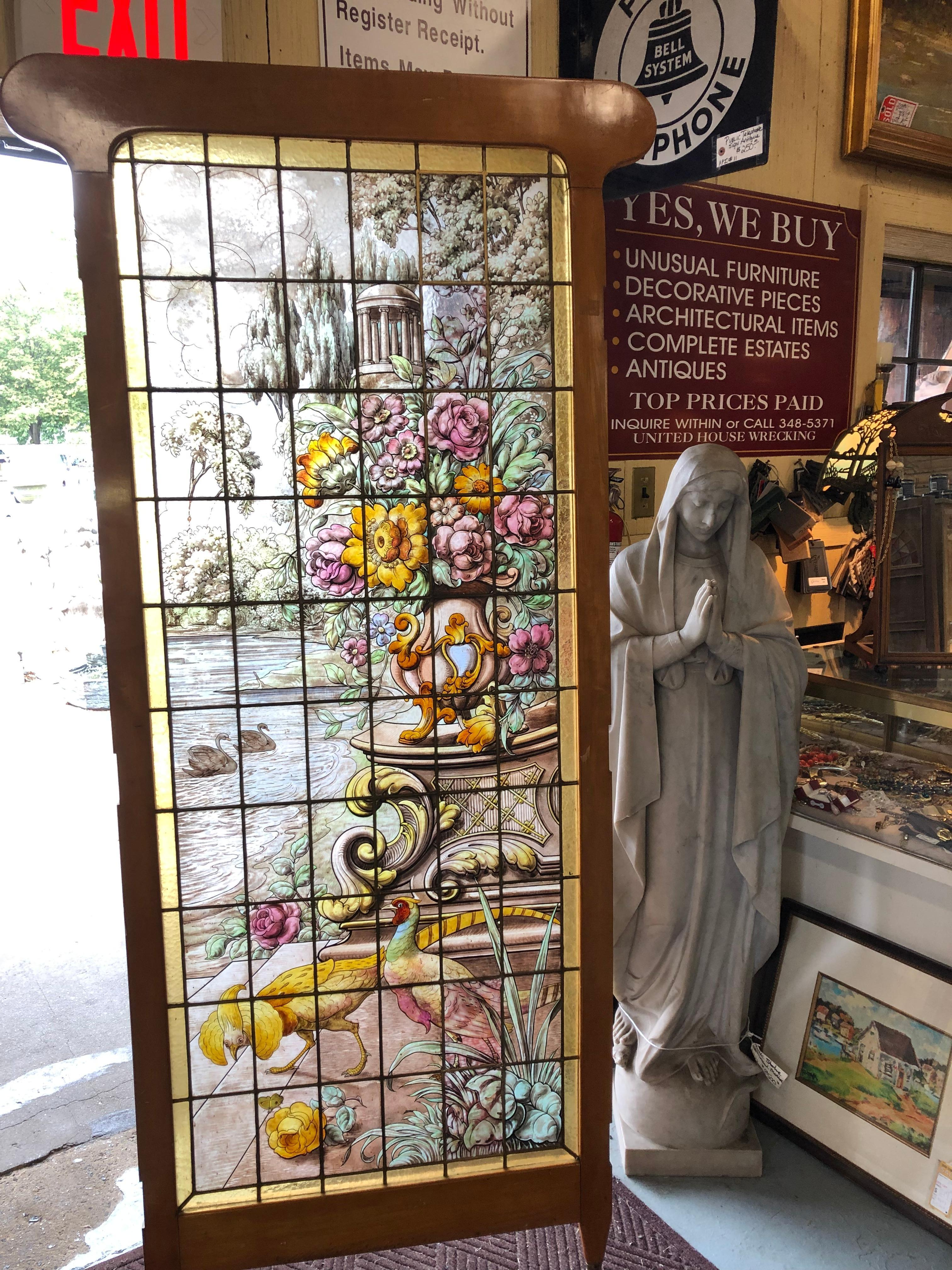 MURANO GLASS HAND PAINTED STAINED GLASS