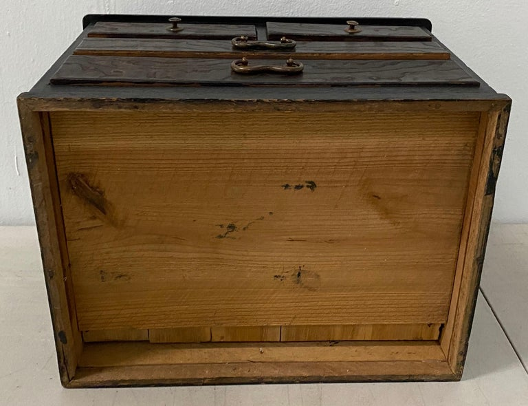 Vintage Stained Pine Miniature Chest, circa 1930 For Sale 3