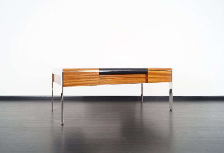 Vintage Stainless Steel Executive Desk by Richard W. Thompson For Sale 4