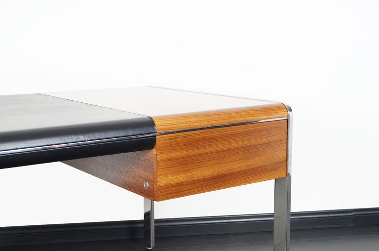 Vintage Stainless Steel Executive Desk by Richard W. Thompson For Sale 2